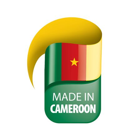 Cameroon flag, vector illustration on a white background 일러스트
