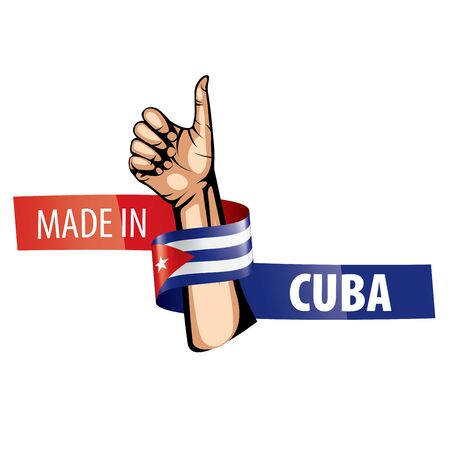 Cuba national flag, vector illustration on a white background