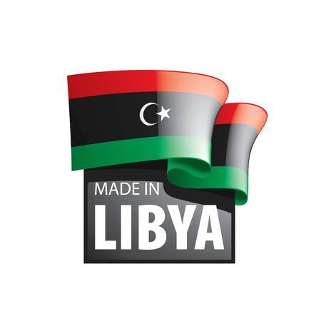 Libya flag, vector illustration on a white background Illustration