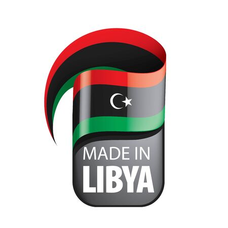 Libya flag, vector illustration on a white background Ilustrace