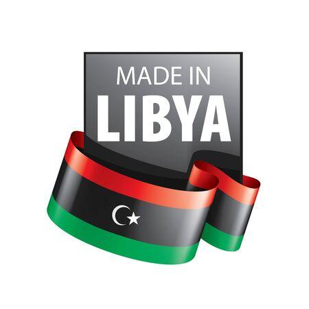 Libya flag, vector illustration on a white background Ilustração