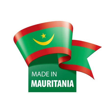 Mauritania flag, vector illustration on a white background