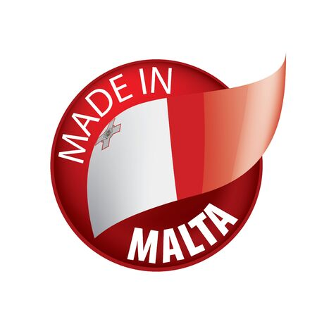 Malta flag, vector illustration on a white background