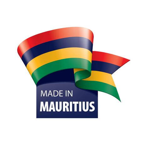 Mauritius flag, vector illustration on a white background