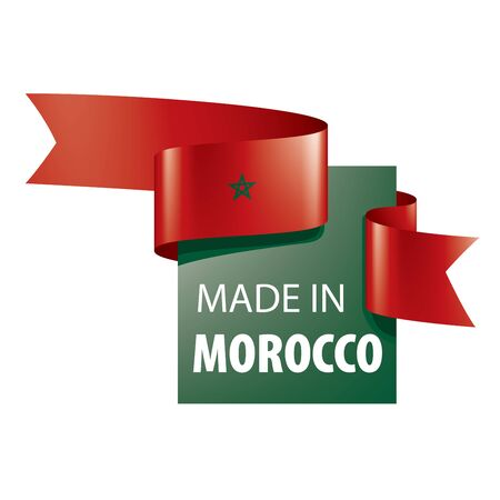 Morocco flag, vector illustration on a white background