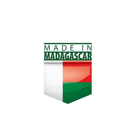Madagascar flag, vector illustration on a white background