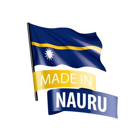 Nauru flag, vector illustration on a white background Stock Illustratie