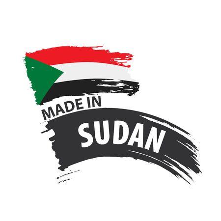 Sudan flag, vector illustration on a white background Vetores