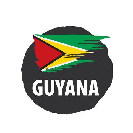 Guyana flag, vector illustration on a white background