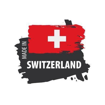 Die Schweiz-Flagge, Vektorillustration auf einem weißen Hintergrund Vektorgrafik