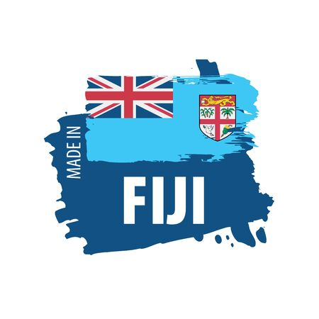 Fiji flag, vector illustration on a white background Çizim