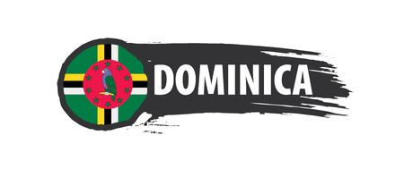 Dominica flag, vector illustration on a white background