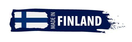 Finland national flag, vector illustration on a white background Ilustrace