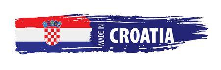 Croatia flag, vector illustration on a white background Ilustração