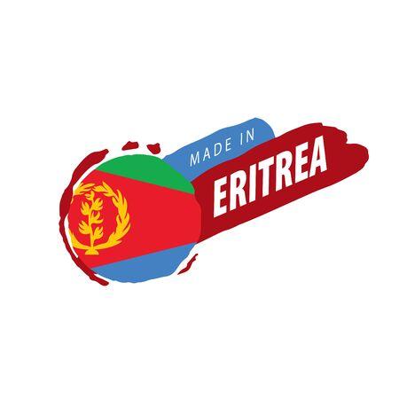 Eritrea flag, vector illustration on a white background