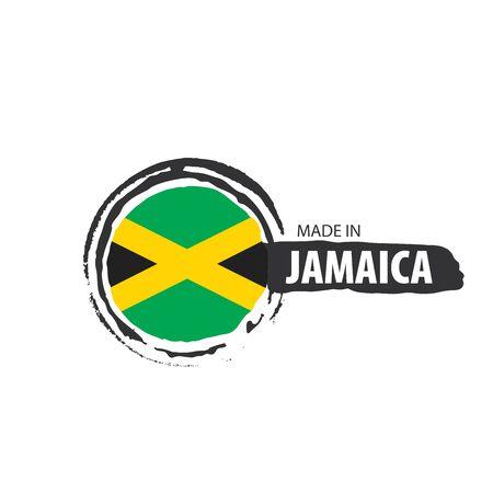 Jamaica flag, vector illustration on a white background