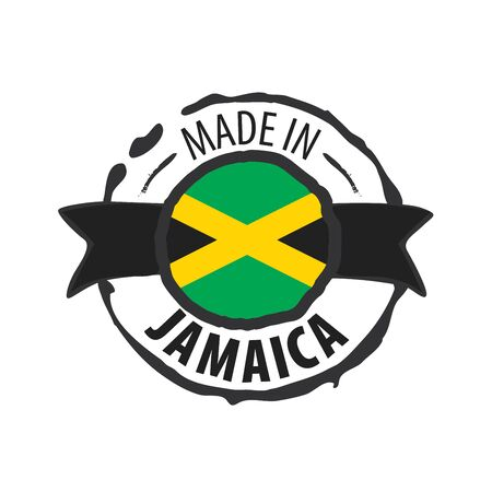 Jamaica flag, vector illustration on a white background