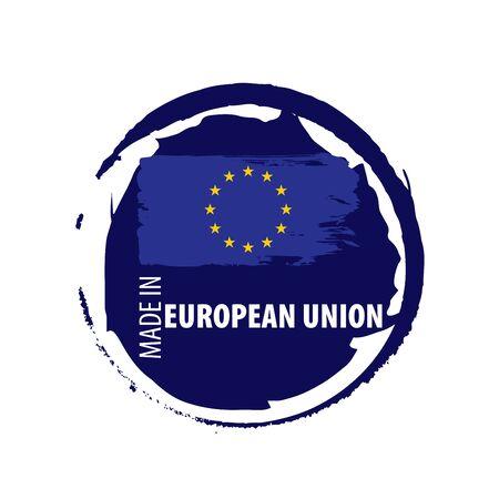 European union flag, vector illustration on a white background Ilustrace