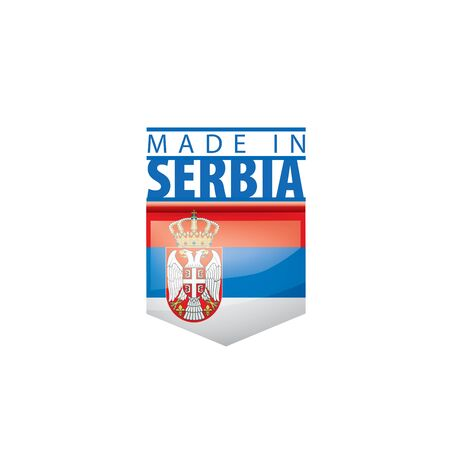 Serbia flag, vector illustration on a white background
