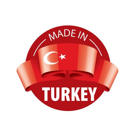 Turkey flag, vector illustration on a white background