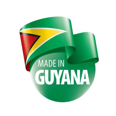 Guyana flag, vector illustration on a white background
