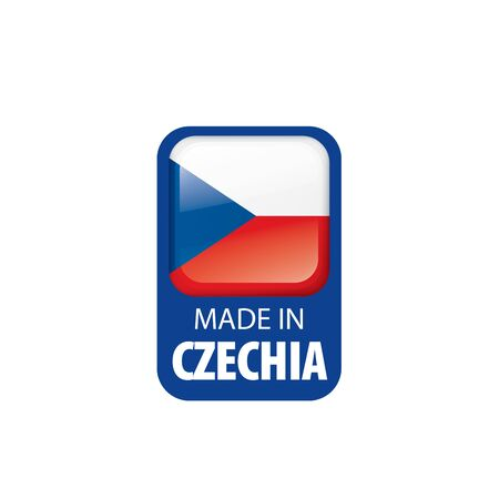 Czechia national flag, vector illustration on a white background 向量圖像