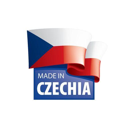 Czechia national flag, vector illustration on a white background 版權商用圖片