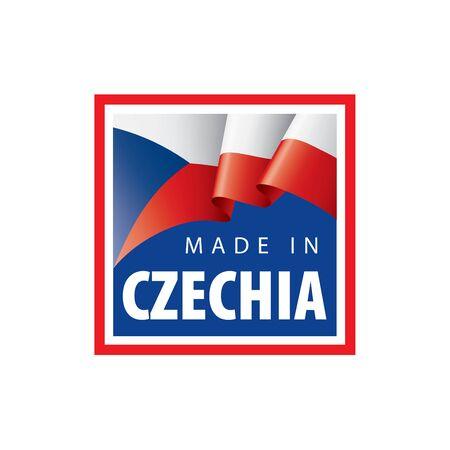 Czechia flag, vector illustration on a white background