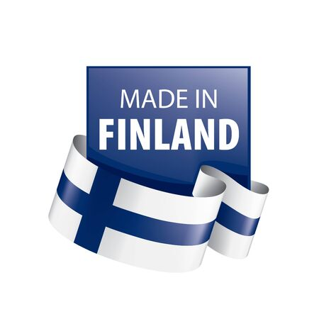 Finland flag, vector illustration on a white background