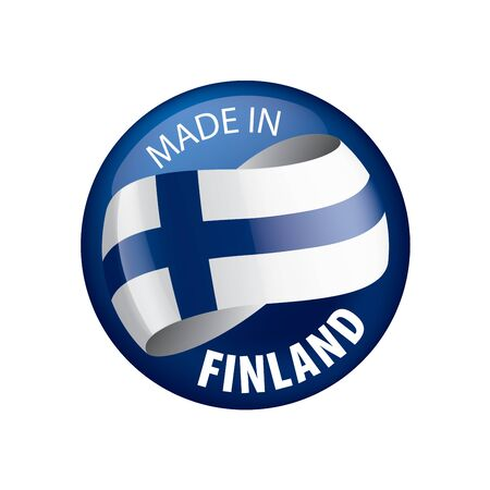 Finland flag, vector illustration on a white background  イラスト・ベクター素材