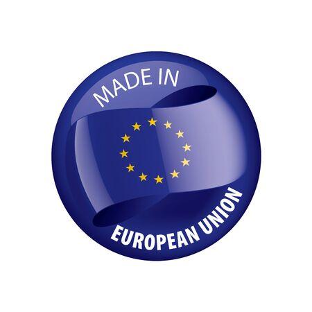 European union flag, vector illustration on a white background