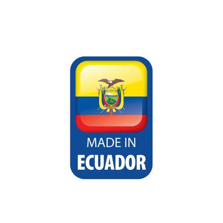 Ecuador flag, vector illustration on a white background