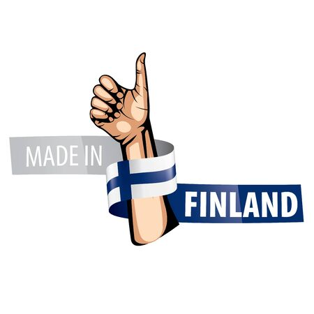 Finland national flag, vector illustration on a white background  イラスト・ベクター素材
