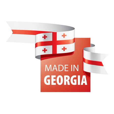 Georgia national flag, vector illustration on a white background
