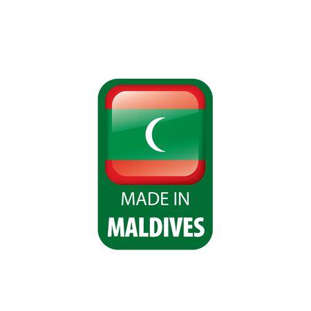 Maldives national flag, vector illustration on a white background