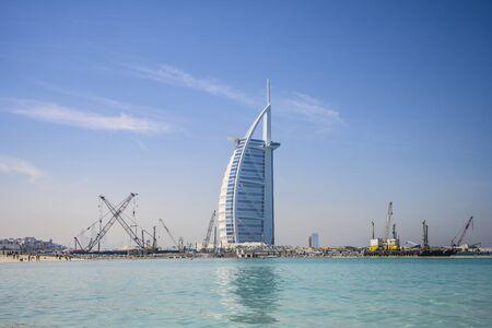 Burj al Arab hotel in Dubai, UAE. Clear Sunny day March 13, 2020 Editorial