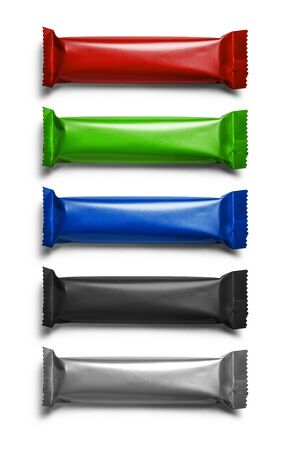 A set of packages in different colors for your design