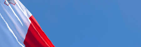 3D rendering of the national flag of Malta waving in the wind Stock Photo