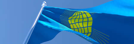 3D rendering of the national flag of Commonwealth waving in the wind 免版税图像