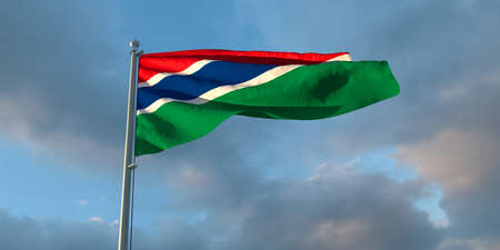 3d rendering of the national flag of the Gambia Stock fotó