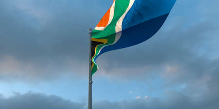 3d rendering of the national flag of the South Africa Stock Photo