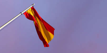 3d rendering of the national flag of the Spain