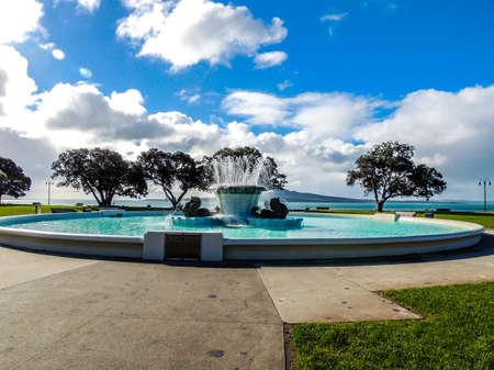 Trevor Moss David Memorial Fountain, Mission Bay, Auckland, New Zealand
