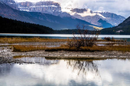 Waterfowl Lakes, Banff National Park, Alberta, Canada Stock Photo