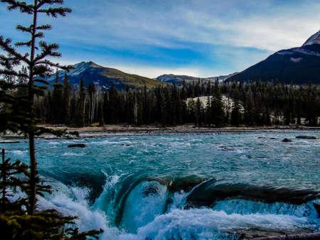 Athabaska Falls, Jasper National Park, Alberta, Canada Stock Photo