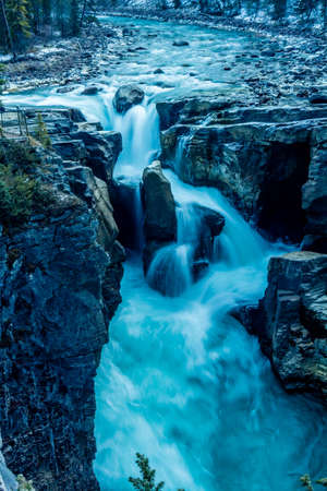 Sunwapta Falls, Jasper National Park, Alberta, Canada Stock Photo