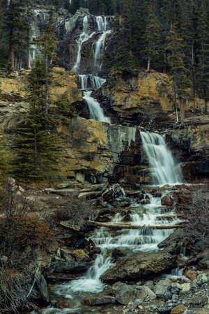 Tangle Creek Falls, Jasper National Park, Alberta, Canada