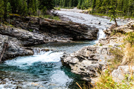 Sheep River falls, Sheep River Provincial Park, Alberta Stock Photo