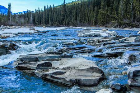 Crescent falls and Big Horn river, Crescent Falls Provincial Recreation Area