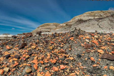 Canadian Badlands late spring, Drumheller, Alberta, Canada Stock Photo